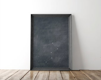 Cassiopeia Constellation 8x10 Fine Art Print // constellation // wall art // wall decor // stars // astronomy // home decor // home goods