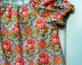 Ready to ship, 4T, Vintage Roses peasant dress, Girl's Spring dress, Easter dress, Summer dress, toddler, Bohemian dress