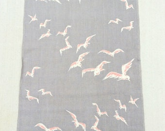Vintage Towel Seagulls Summer at the Beach