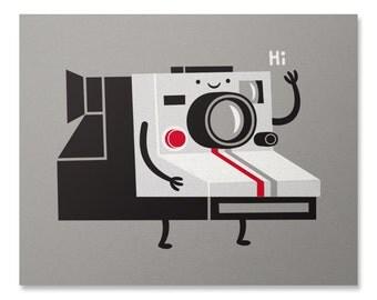 InstaFriend Print / Photography Art Print / Cute Print / Camera Wall Art / Polaroid Print / Home Decor / 8 x 10