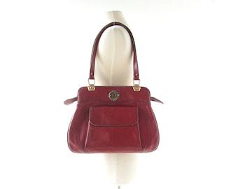 Etienne Aigner Purse / 70s Bag / Oxblood Leather Purse