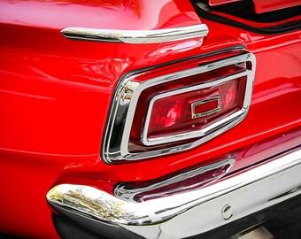 Plymouth Fury Tail Light Car Photography, Automotive, Auto Dealer, Classic, Muscle, Sports Car, Mechanic, Boys Room, Garage, Dealership Art