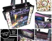 Prince Purple Rain Handbag Vintage Vinyl Record Repurpose