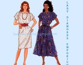 337 Simplicity 9602 Womens Pullover Dress Slim or Flared Skirt size 6 8 10 12 14 Bust 30.5 - 36 Vintage Jiffy Sewing Pattern Uncut