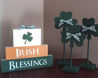 Irish Blessing blocks