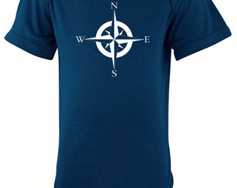 Nautical Compass Silhouette Baby Bodysuit