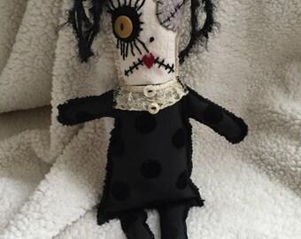 Ugly Monster Zombie Rag Doll OOAK