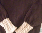Cabled Brown Pullover, size 6
