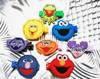 Favorite Buddy Clippies, Choose Your Favorite Sesame Street Themed Clip