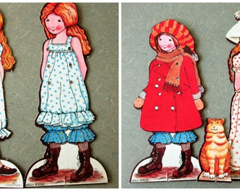 Vintage Holly Hobbie Sew Ons, Holly Hobbie Paper Dolls, Color Forms, Holly Hobby, Holly Hobbie Dress, Tie On Dresses, Dress Up Holly Hobbie