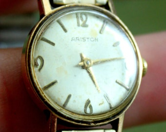 Vintage Watch ARISTON Wind Up 1940s Gold Tone Working