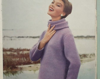Vogue Knitting Book No 51 Autumn 1957 Vintage 1950s Knitting Patterns Womens Sweaters Jumpers Jackets Cardigans 50s original patterns