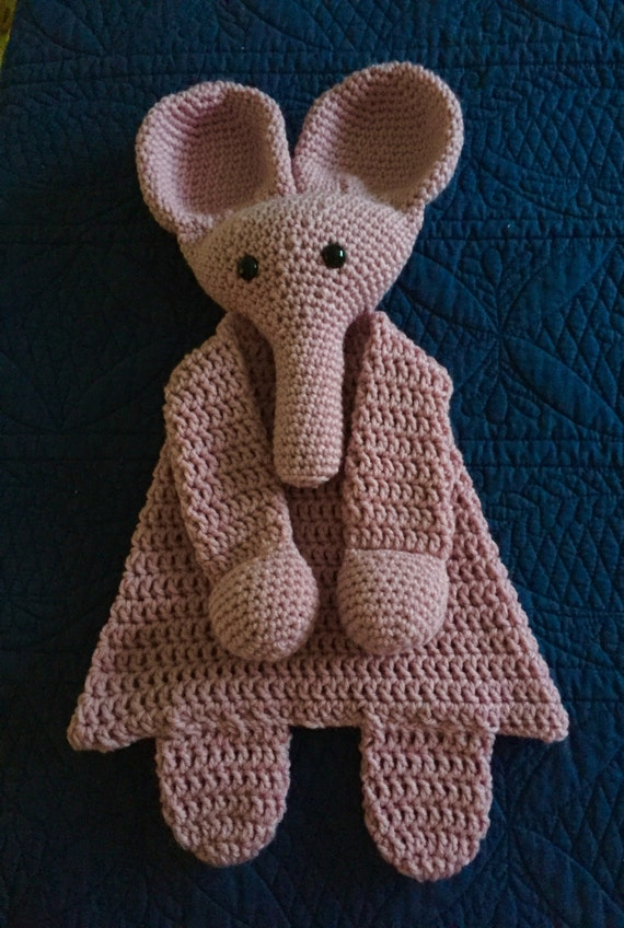 Soft Pink Elephant Rag Doll Toy/Lovey