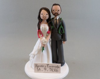 Doctors Bride & Groom Custom Wedding Cake Topper