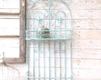 Metal Wall Basket, Kitchen Home Decor, Bathroom Shelf, Fruit Basket, Plant Holder, Zinc Decor, Farmhouse Hanging Basket, Gift for Mom