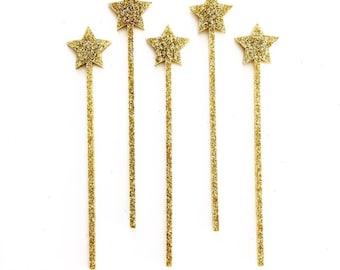 Oh My Stars Cocktail {Drink Stirrer} or Cake Pop Stick - Set of 5