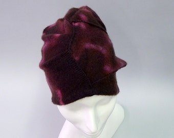 Passion Turban in hand dyed Plum Eco Cashmere