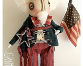 Primitive Grimitives Uncle Sam Doll #2