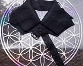 Leather Utility Belt | Winged Black, 4 Pocket | Saddle | travel, burning man, festival