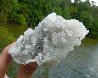 Natural Druzy Apophyllite Chalcedony ~ Genuine Druzy, Indian Zeolite, Healing Crystal, Raw Crystal, Meditation, Metaphysical, Reiki, Earth