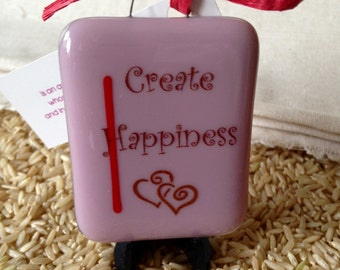 Create Happiness Stand-up Plaque by Design4Soul