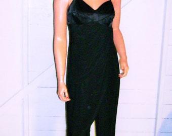 Vintage New Vogue Black Layered Jumper M