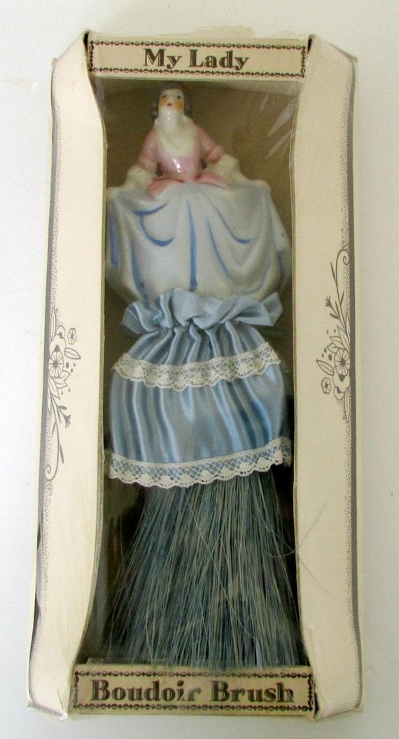 vintage boudoir brush doll clothes brush in original
