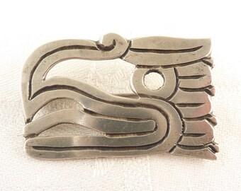 Antique William Spratling Taxco Mexican .980 Silver Aztec Eagle Head Brooch