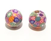 Large Tiny Flower Garden Beads Handmade from Polymer Clay