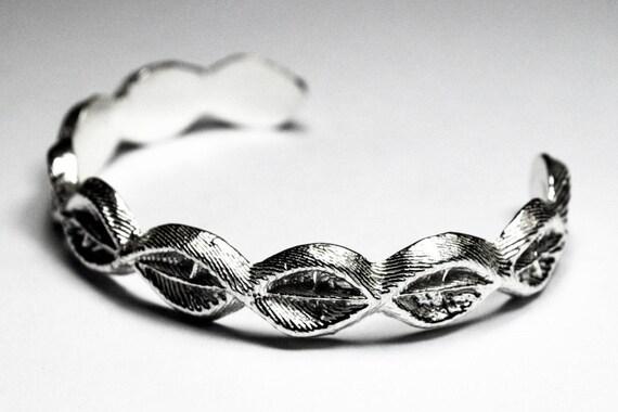 Sterling Silver Cuttlefish Cast Cuff Bracelet #3