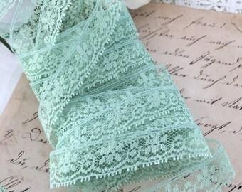 Dressmakers Vintage Lace, Pastel Green