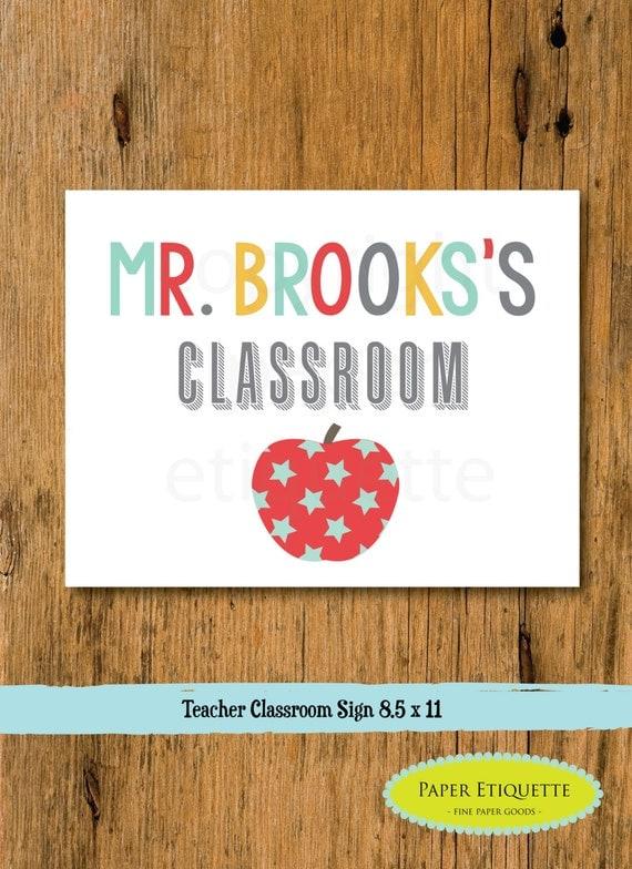 Classroom Decor Etsy ~ Classroom sign teacher decor custom