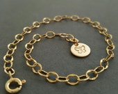 Gold Initial Bracelet Disc Bracelet thin dainty layering boho bracelet personalized best friend birthday gifts