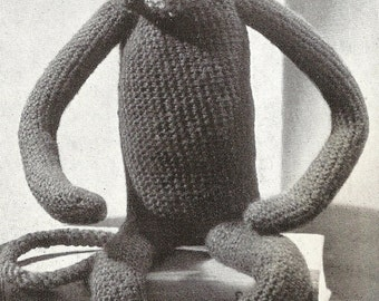 Toy Monkey Vintage Crochet Pattern 157