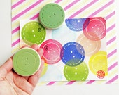 button rubber stamp. sewing button hand carved rubber stamps. diy christmas birthday scrapbooking. party favors. extra large. choose option