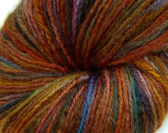 "Organic, 100 % bamboo yarn ""Swedish forest"", vegan, hand dyed yarn, 3.5 oz"