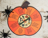 Printable Halloween spin game inspired by vintage Zingo Halloween Stunt Game.  Easy spinner game with funny activities for kids to act out