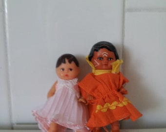 Two Vintage Rubber Dolls