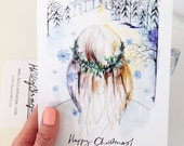Christmas card - illustration by Holly Sharpe