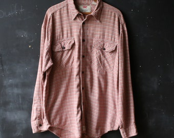 Flannel Levis Shirt Mens Long Sleeve Red White Plaid Little Black Vintage From Nowvintage on Etsy