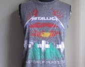 Metallica Master of Puppets Grey Muscle T-shirt sz. S/M