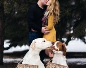 Pet SaVe THe DaTe SiGn - Dog PHoTo PRoP SiGn -Calligraphy Lettering - Pet Wedding SiGnS -RuSTic WeDDing SiGn- Our Humans are Getting Married