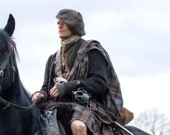 Hand Knit Felted Outlander Tam Scottish Bonnet, Highlands Wool, 12 Different Colors, Made to Order
