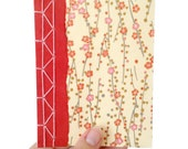 Cherry Blossom Notebook, Japanese Stab Bound Notebook, Yuzen Notebook, Chiyogami Notebook, Gift for a Writer
