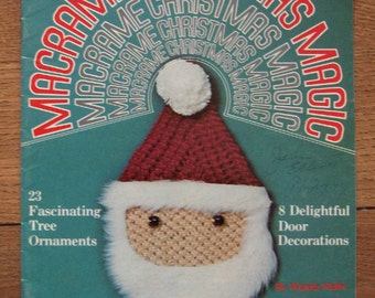 vintage 70s MACRAME CHRISTMAS MAGIC ornaments decor decorations