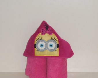 Hooded Towel- Yellow Girl