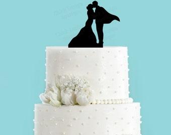 Superhero Wedding Couple in Love Acrylic Wedding Cake Topper