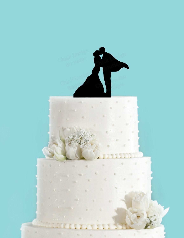 superhero wedding couple in love acrylic wedding cake topper. Black Bedroom Furniture Sets. Home Design Ideas