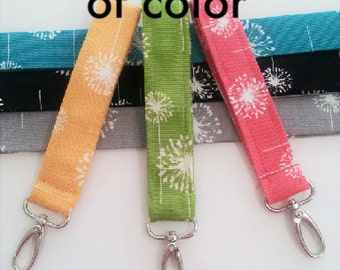 Key chain, Key fob wristlet, Wrist strap with swivel clip, swivel snap key fob