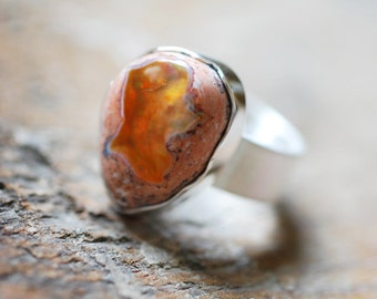 Dollybird Raw Fire Opal Ring